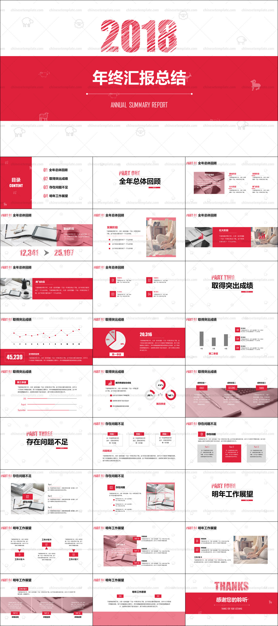 Chinese Annual Report PowerPoint Template
